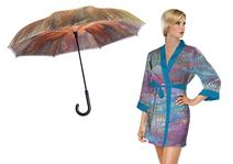 Galleria Enterprises introduced bath robes, apparel as well as rain and fashion accessories.